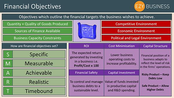 Business Studies Recap Day 19 - Financial Objectives
