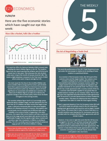The Economics Weekly 5 - 15th February