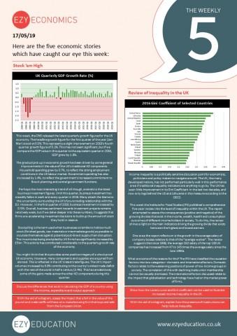 Weekly 5 - Stockpiling, Inequality, British Steel, IMF Bailout, New Minimum Wage