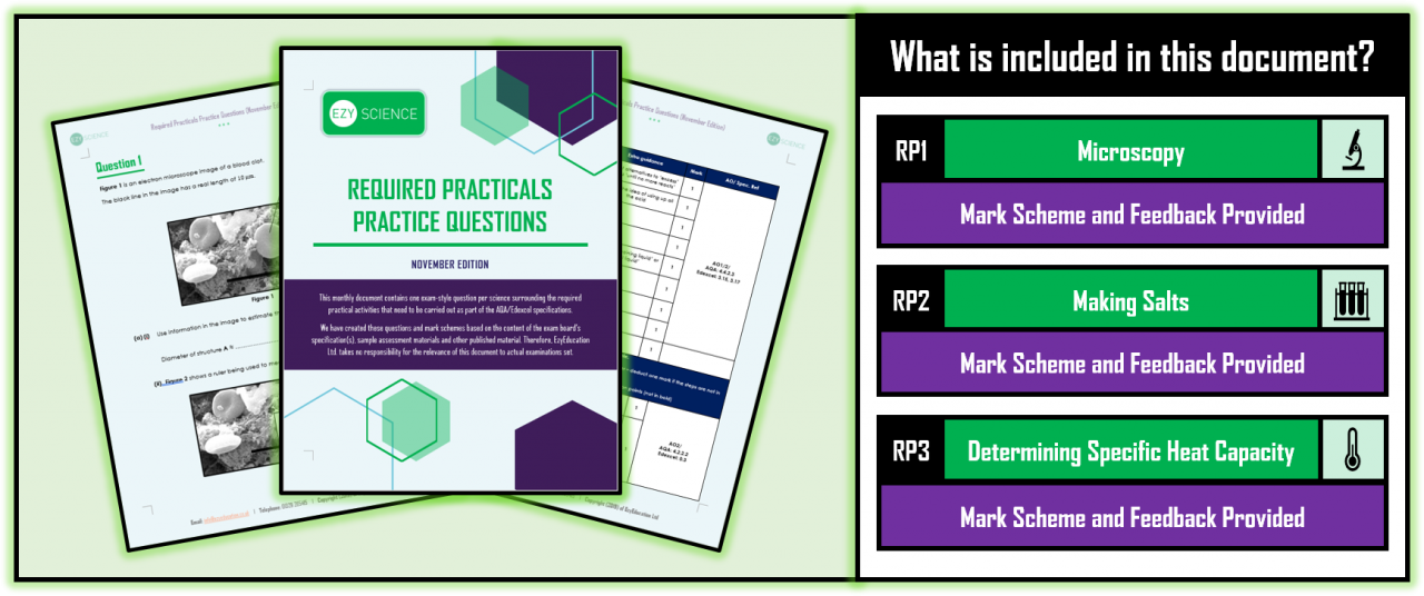 Required Practical Practice Questions