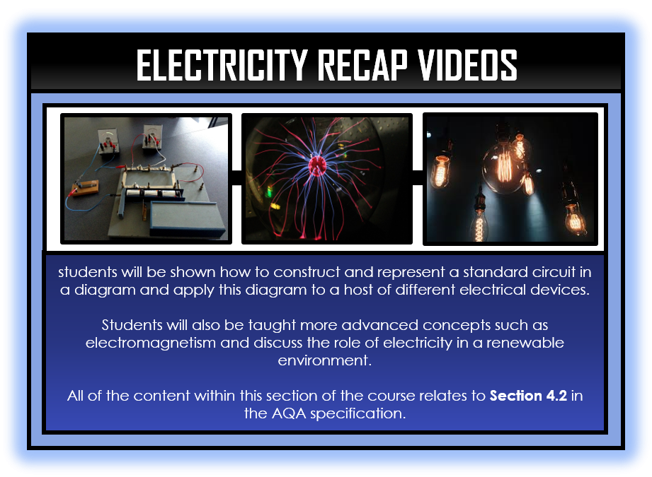 Combined Science Snapshots - Electricity Section