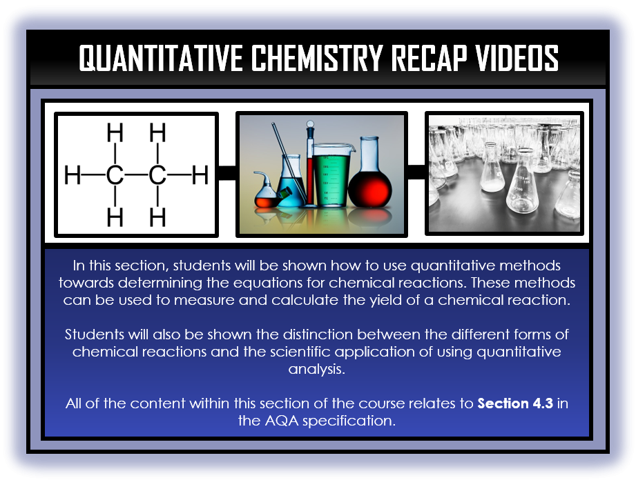 Combined Science Snapshots - Quantitative Chemistry Section