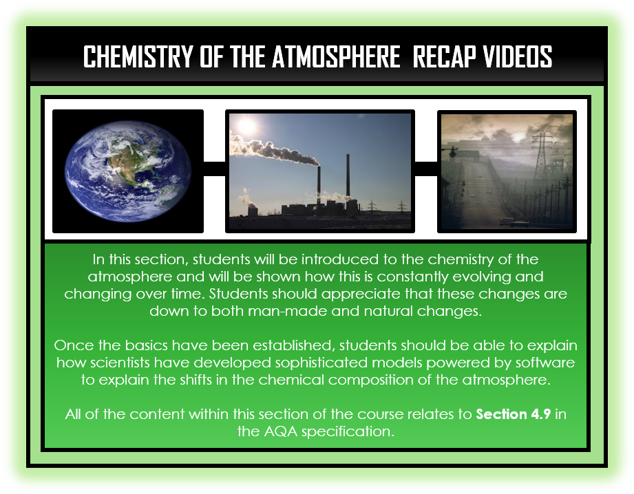 Combined Science Snapshots - Chemistry of the Atmosphere Section