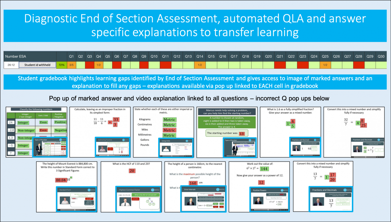 Diagnostic and QLA support for this year's GCSE exams