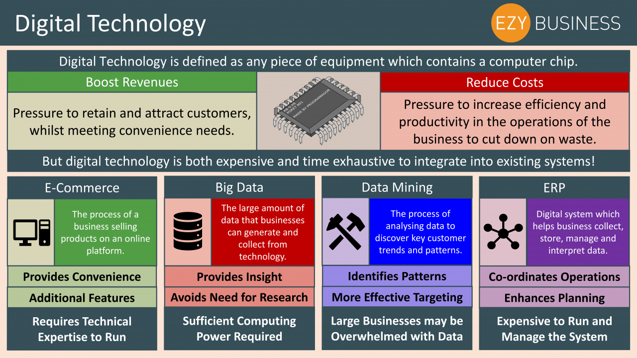 Business Studies Year 13 revision Day 13 - Digital Technology