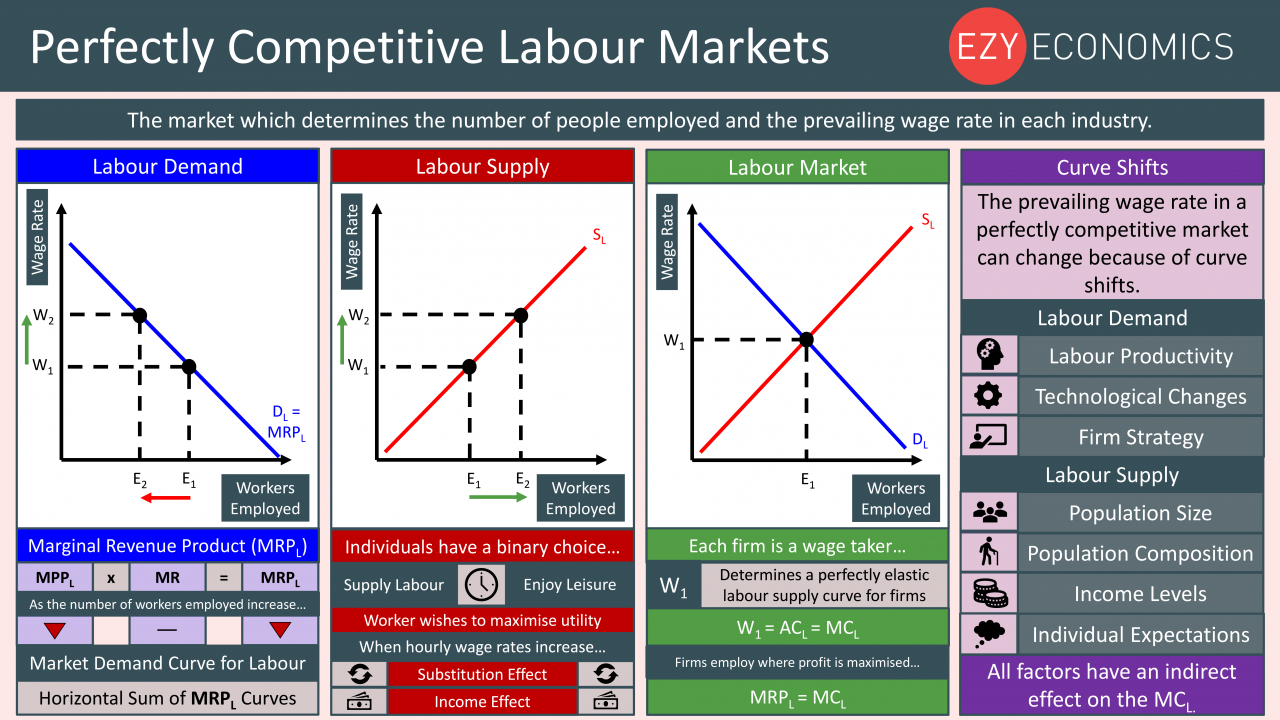 Economics Year 13 revision Day 13 - Perfectly competitive labour markets