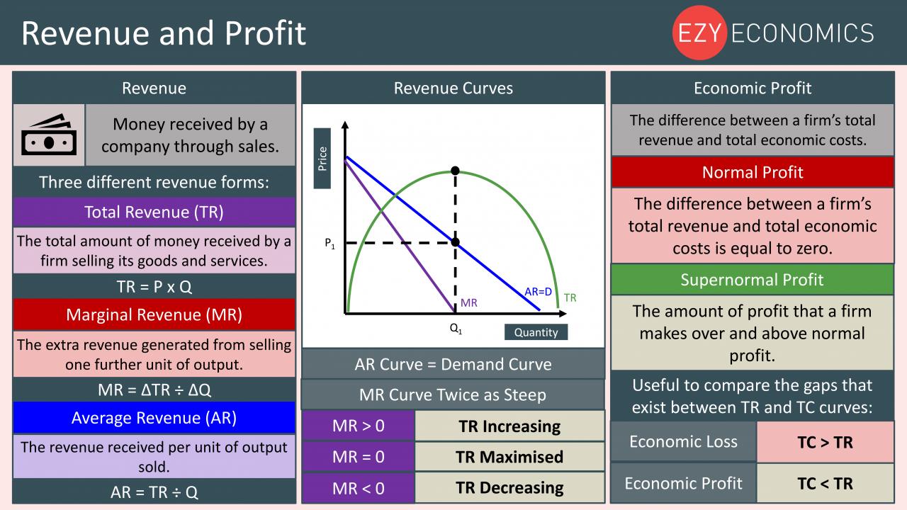 Economics Year 13 revision Day 4 - Revenue and profit